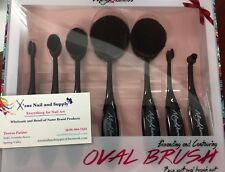 MayQueen 7pc Blending &Contouring Oval Brush Set Foundation Eyeshadow Eyeliner