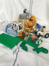 LEGO Duplo ZOO Konvolut, Sondersteine, Fahrzeuge, Platten, Berg, Tiere, Zaun etc
