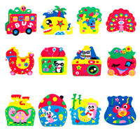 Handmade Eva Pen Holder Craft Kids DIY for Pens Educational toys JH