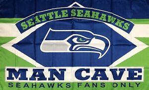 Seattle Seahawks Man-Cave NFL Flag 3x5 ft Sports Banner Super Bowl Championship