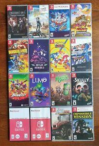 Lot of 16 Nintendo Switch Games (Resident Evil, Outer Worlds, Borderlands)
