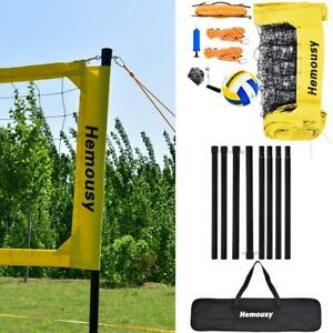 Professional Portable Volleyball Net Set with Adjustable Stand, Bag for Outdoor