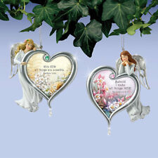 Garden of Glory Angel Ornaments  Lena Liu - Bradford Exchange