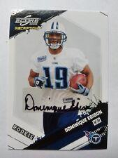 2009 Score Dominique Edison Tennessee Titans Stephen F. Austin 245/599 - Auto