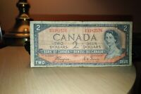 1954 Devil's Face $2 Dollar Bank of Canada Banknote BB3382576