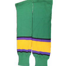 Green Ice Hockey Socks (Pair) Adult Mens Mighty Ducks Movie Costume Conway Banks