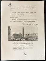 1926 - Litografía citación Mrs Antonio Casertano. Rocco