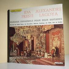 33T Ida PRESTI & Alexandre LAGOYA Disque LP MUSIQUE ESPAGNOLE POUR DEUX GUITARES