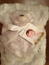 Blanket Beyond Baby Security Blanket Nunu Set Oyster Faux Fur Soft Silky NEW