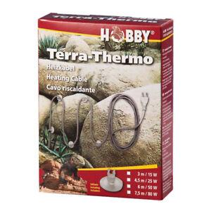 Hobby Terra- Thermo Heizkabel für Terrarien 15 Watt-3m lang