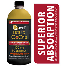 Qunol Liquid CoQ10 100mg Supplement Superior Absorption Orange Pineapple 20oz