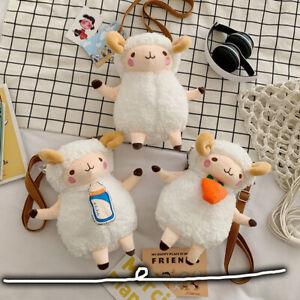 Cartoon Children's Plush Toy Doll Lamb Mobile Phone Bag Shoulder Messenger Bag