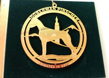 "Doberman Pinscher Gold Tone Ornament 3"" Metal Dog Case"