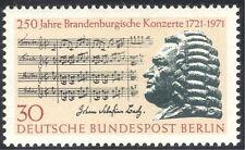 """Germany (B) 1971 Bach/Music/Composer/Musicians/""""Brandenburg"""" Score 1v (n42935)"""