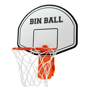 Basketball Hoop Trash Can Backboard Papper Wad Shoot Score Real Net Office Room