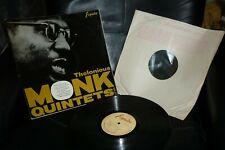 THELONIOUS MONK QUINTETS RARE ORIGINAL ESQUIRE UK PRESS 1961 LP 32-109 EX/EX!
