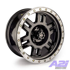 "17"" Vision 398 Manx Black Machine Wheel 17x8.5 6x5.5 0mm Chevy GMC 6 Lug Rim"
