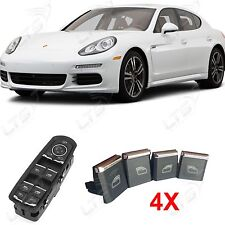 PORSCHE Panamera Window Control Interruttore di alimentazione Chrome Trim Kit pulsante x4