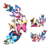 12Pcs/Set DIY 3D Butterflies Magnetic Wall Sticker Home Room Party Decor