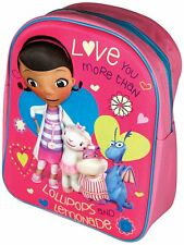 Licensed Disney Doc McStuffins 3D Junior Backpack 3+ Years