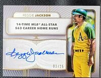 REGGIE JACKSON ⭐ 2021 Topps Definitive ON CARD Auto /25 Oakland Athletes HOF