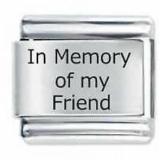 IN MEMORY OF MY FRIEND * Daisy Charm Fits Nomination Classic Size Italian Charm