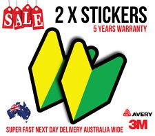 2 x WAKABA LEAF JDM Sticker Decal Car sticker for turbo, fast cars 160mmx110mm