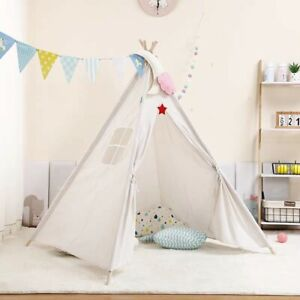 Children's Tent Portable Girls Tents Tipi Kids Indoor Playhouse Large Baby House
