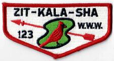 Order of the Arrow (OA) Flap Lodge 123 Zit-Kala-Sha S1