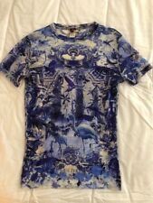 JEAN PAUL GAULTIER SOLEIL Grotto of Birds TATTOO PRINT Signed Mesh TOP Sz-L JPG