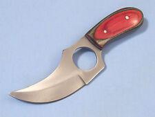 SHORT SKINNER 202989MC Multi-color wood finger hole full tang knife PA2989 NEW!