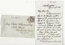 1885 Letter, Cover Southampton to Isle of Wight