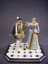 figurine d'art en plomb VANOT Charles IX et Elisabeth d'Autriche fine peinture