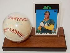 Rawlings American League Official Baseball Signed by Jose Canseco w/Topps Card