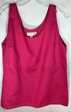 Michii Moon for Sanyo Pink Linen Blend Tank - Size 12