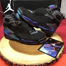 Nike Air Jordan Retro VIII Aqua Size 9.5 Wings XII VI XI I III VII 8 Playoff XIX