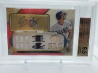 Corey Seager 2017 Topps Triple Threads Ruby Relics Autographs 1 of 1  BGS 9.5 RC