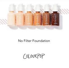 COLOURPOP |  No Filter Foundation ALL SHADES Matte Full Coverage Light Medium
