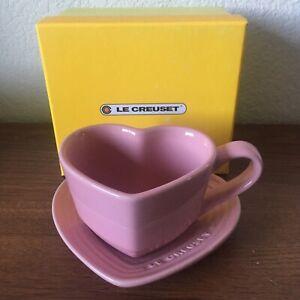NEW IN BOX Le Creuset Satin Pink Heart Mug