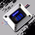 3 Digit Blue Led Readout 12v Digital Voltmeter Silver Car Marine Audio Video Usa