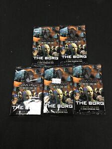 Star Trek CCG The Borg Booster Packs x5 (Sealed, OOP)