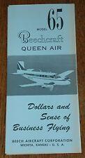 Vintage Rare 1961 Beechcraft Model 65 Queen Air Brochure