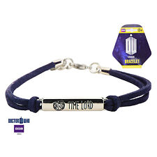 """Official Doctor Who """"Time Lord"""" Leather Bracelet"""