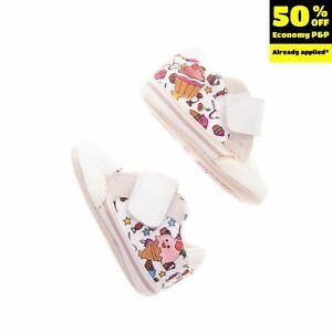GEOX RESPIRA Sneakers EU 17 UK 1.5 US 2 Breathable Antibacterial Patterned Logo