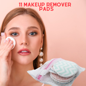 11 Assorted Makeup Remover Pads Including Washable Bag