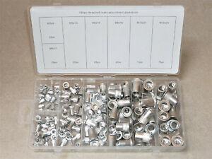 Nietmuttern Sortiment 150tlg. M3-M4-M5-M6-M8-M10 Aluminium Nieten (9-21mm) 4099