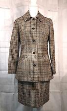 Vintage Pendleton Pure Virgin Wool Skirt Suit Set Womens Sz 12 Houndstooth