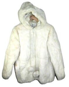 Vintage 60s Velvet Hooded Snow Bunny Jacket