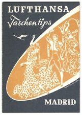 Lufthansa poches Conseils: MADRID. Années 50er. Pour les passagers à Madrid
