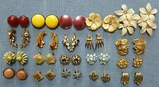 Vintage ALL CLIP ON Earring LOT X20 Amazing! Lot 6
